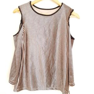 One Teaspoon Cold Shoulder Striped Top XS.